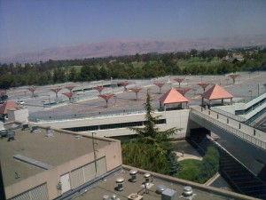 A view from my hotel room at Santa Clara (SETIcon)