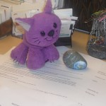 Cat-o-naut on Seth's desk (SETIcon)