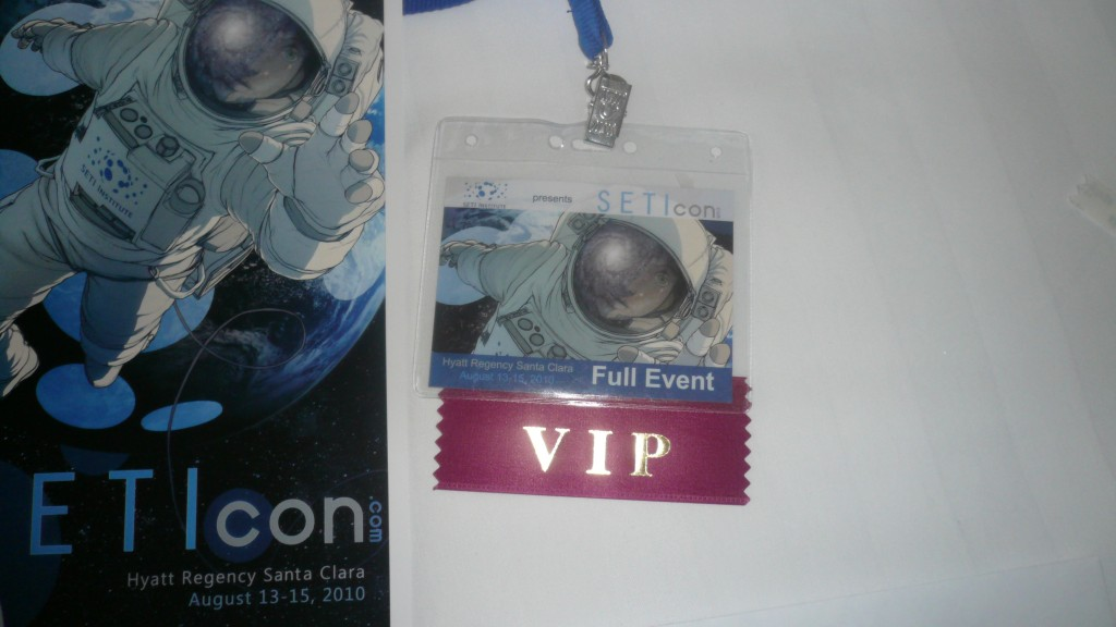SETIcon badge and event schedule